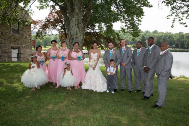 Wedding party scenic background