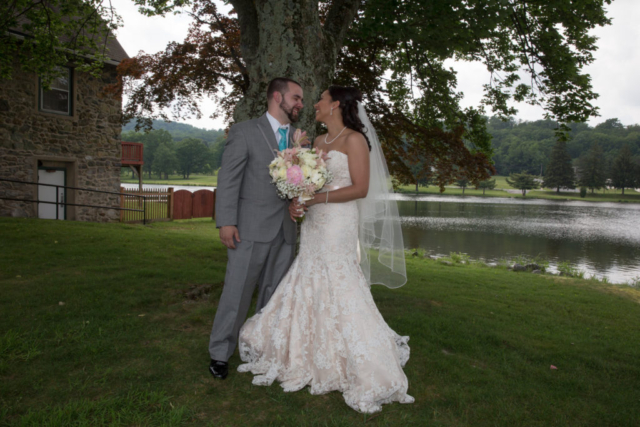 Wedding couple full-length photo