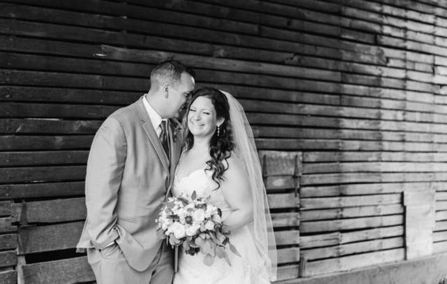 Wedding couple black and white