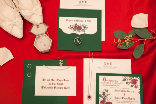 winter fairytale wedding invitation jewelry